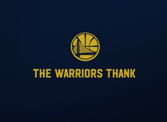 Warriors Champs Thank You